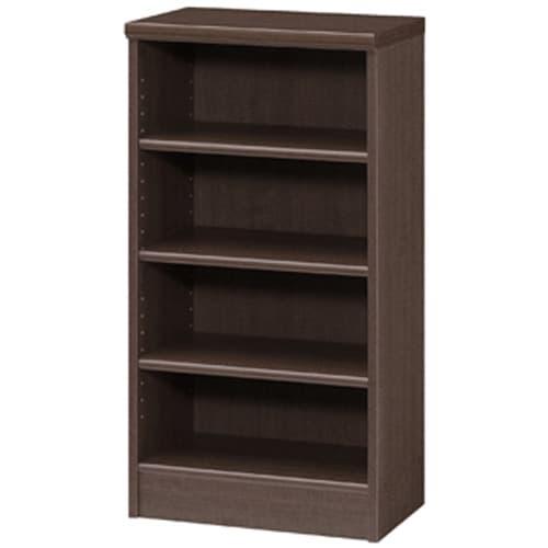 色とサイズが選べるオープン本棚 幅44.5cm高さ88.5cm (エ)ダークブラウン