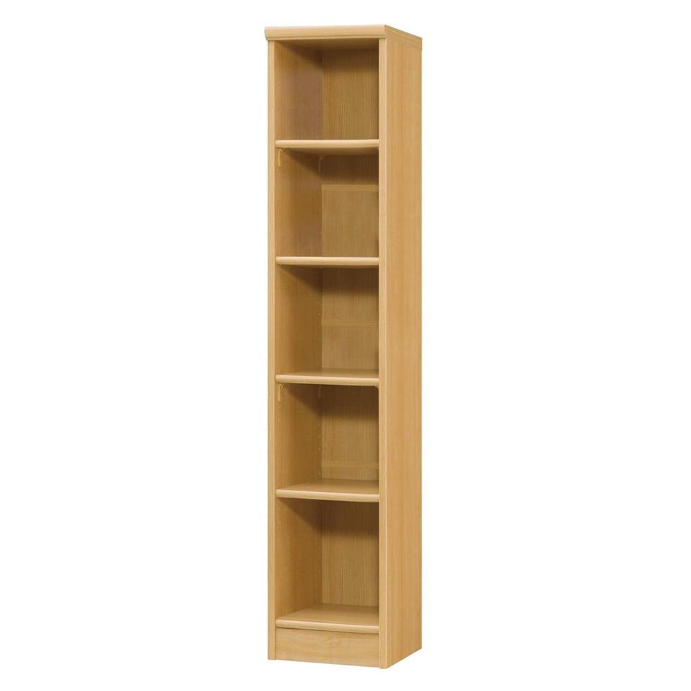 色とサイズが選べるオープン本棚 幅28.5cm高さ150cm 商品イメージ:(オ)ナチュラル