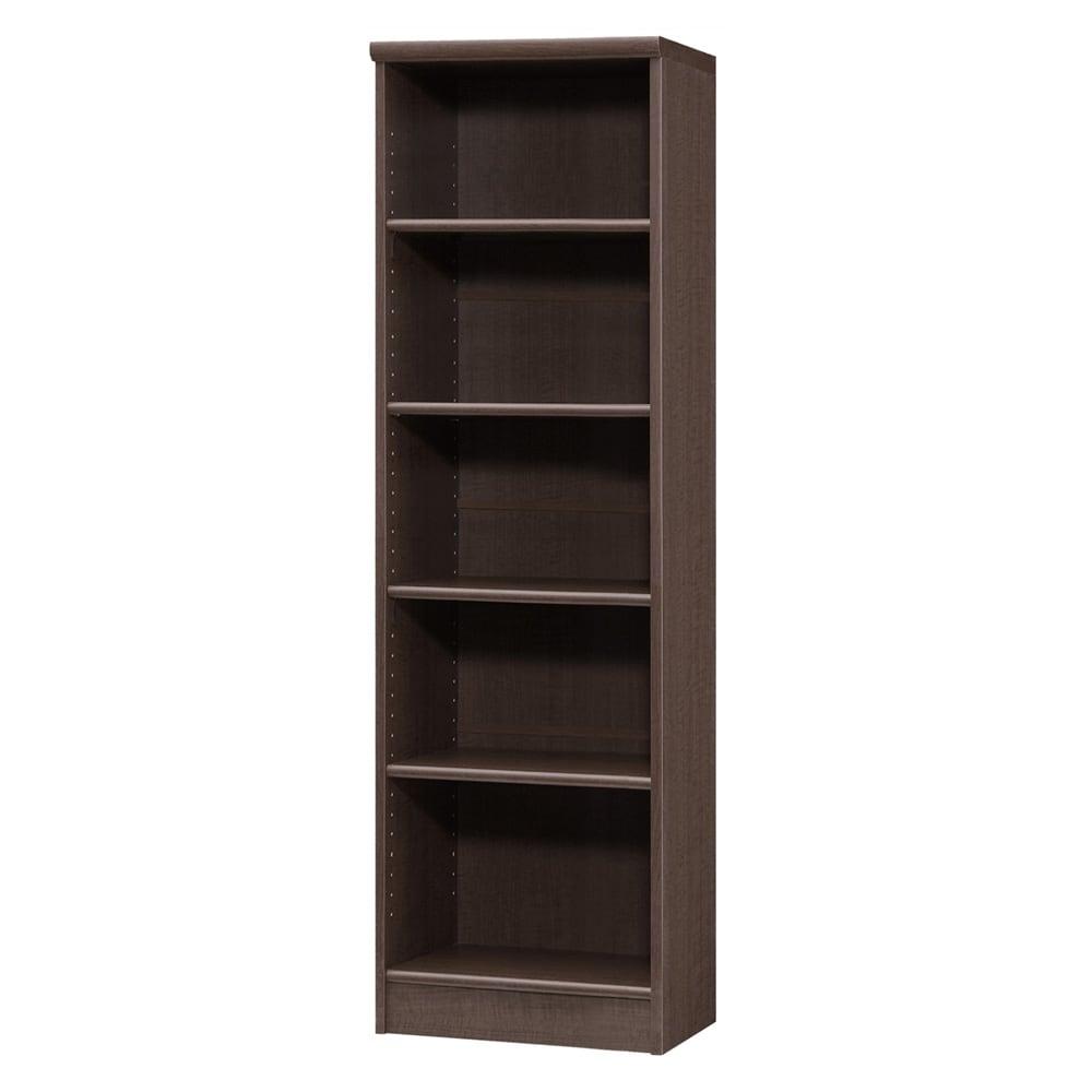 色とサイズが選べるオープン本棚 幅44.5cm高さ150cm 商品イメージ:(エ)ダークブラウン