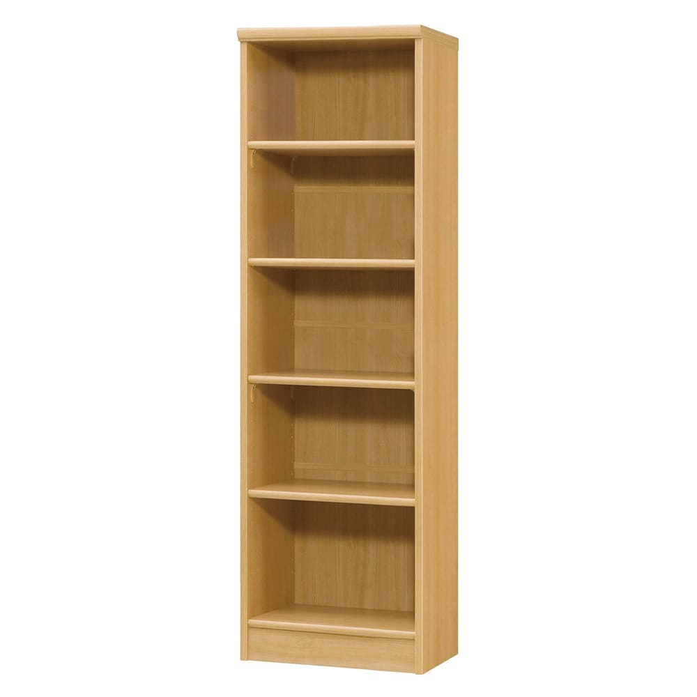 色とサイズが選べるオープン本棚 幅44.5cm高さ150cm 商品イメージ:(オ)ナチュラル
