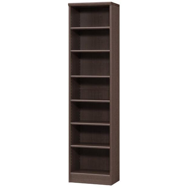 色とサイズが選べるオープン本棚 幅44.5cm高さ178cm (エ)ダークブラウン