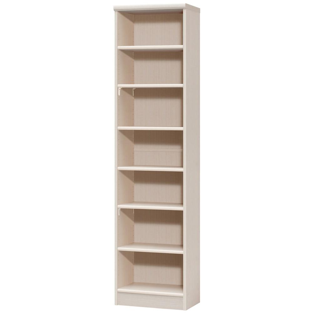 色とサイズが選べるオープン本棚 幅44.5cm高さ178cm (ア)ライトナチュラル