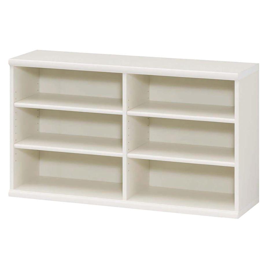 色とサイズが選べるオープン本棚 幅116.5cm高さ60cm (イ)ホワイト