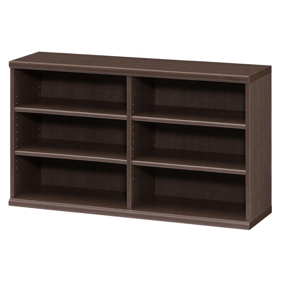 色とサイズが選べるオープン本棚 幅116.5cm高さ60cm (エ)ダークブラウン