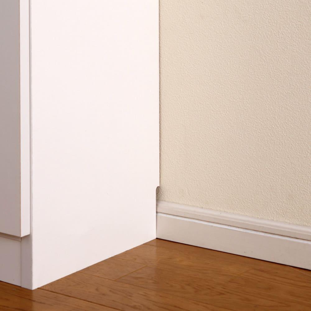 1cmピッチ薄型壁面書棚 奥行20.5cm 幅123cm 高さ180cm 扉 壁にぴったりと付けられる幅木よけ対応。