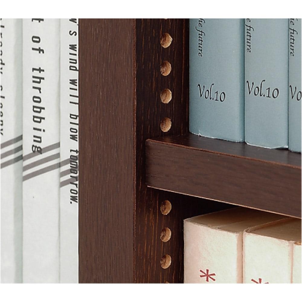 1cmピッチ薄型壁面書棚 奥行19cm 幅82cm 上置き高さ55cm オープン 棚板は1cmピッチ間隔で調節、どんなサイズの書籍もぴったり収納できます。