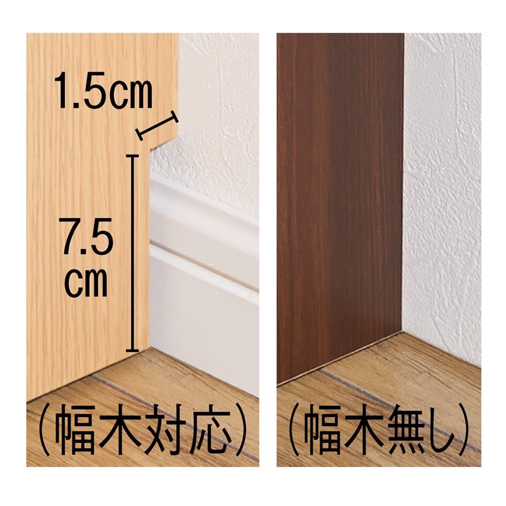 【高さサイズオーダー】 プッシュ扉リビングキャビネット 扉タイプ 幅116高さ40~120奥行45cm 幅木対応の「有り」・「無し」が選べます。