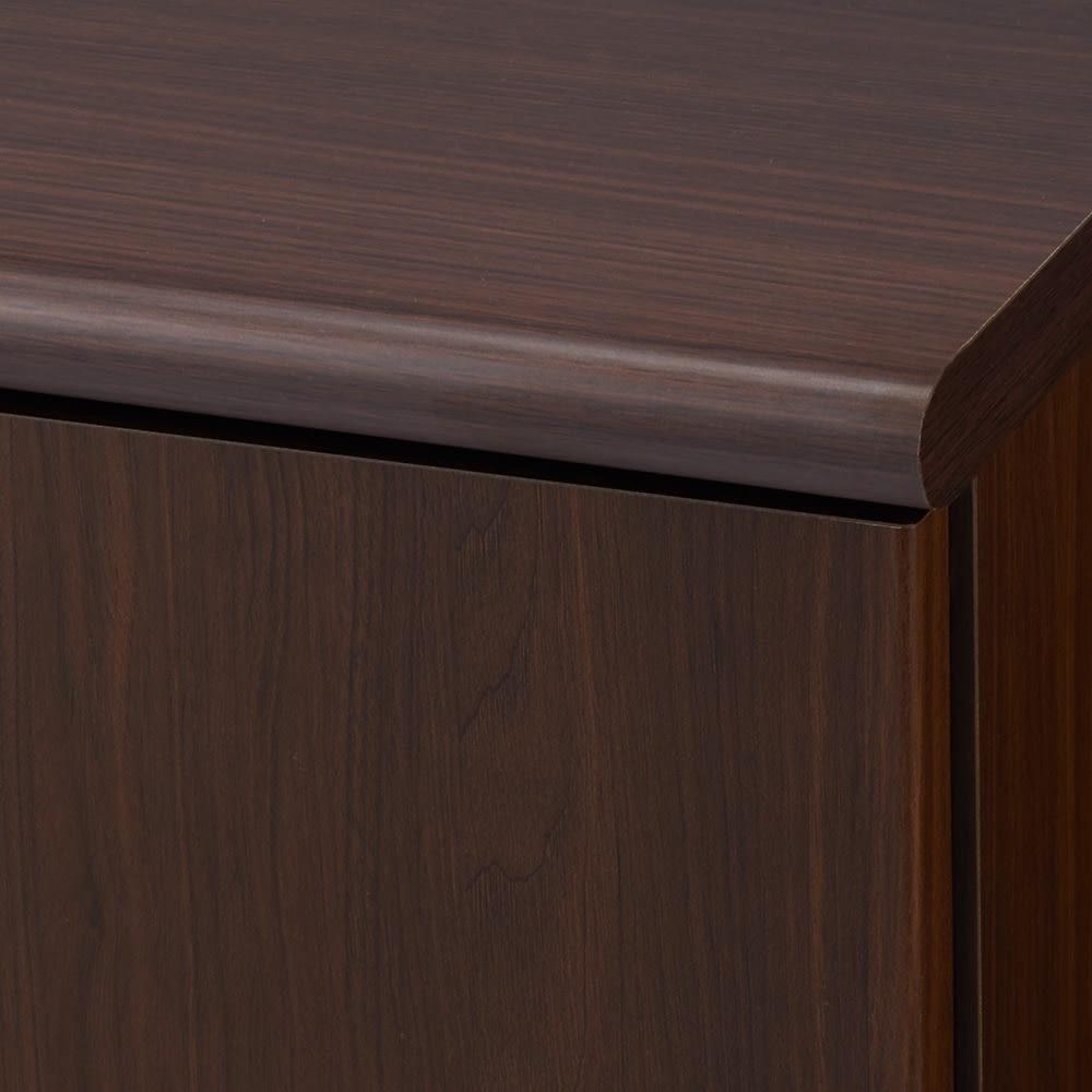【高さサイズオーダー】 プッシュ扉リビングキャビネット 扉タイプ 幅116高さ40~120奥行45cm ダークブラウン