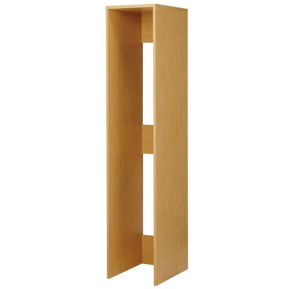 1cmピッチ スライド式すき間収納ワゴン用 2連ボックス単体 幅37.5cm (ウ)ナチュラル