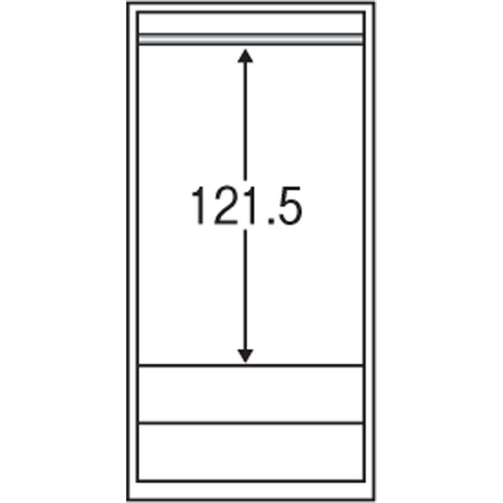 壁面間仕切りワードローブ ブレザー・幅60cm 内部の構造図(単位:cm)
