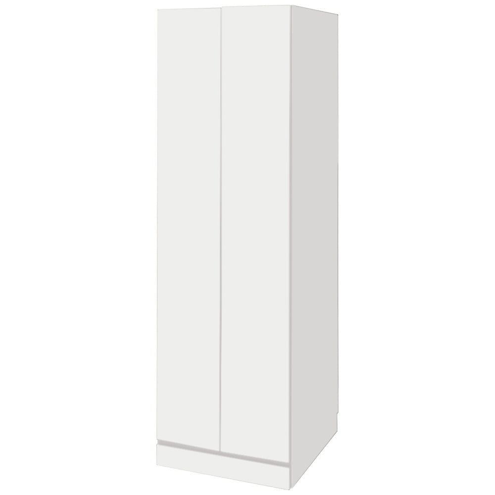 【日本製】シンプルスタイルワードローブ 棚 幅57.5cm奥行56cmタイプ (イ)前板:ホワイト・本体:ホワイト