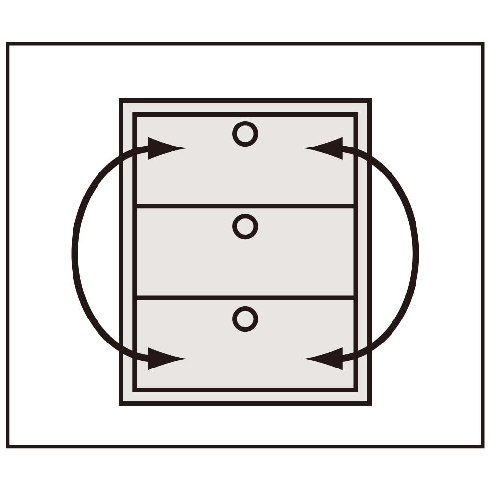 【日本製】シンプルスタイルワードローブ タワーチェスト幅57.5cm奥行56cmタイプ 【引き出し入替OK】 上から1~7段目は中の衣類を取り出さずに引き出しごと入れ替えられます。