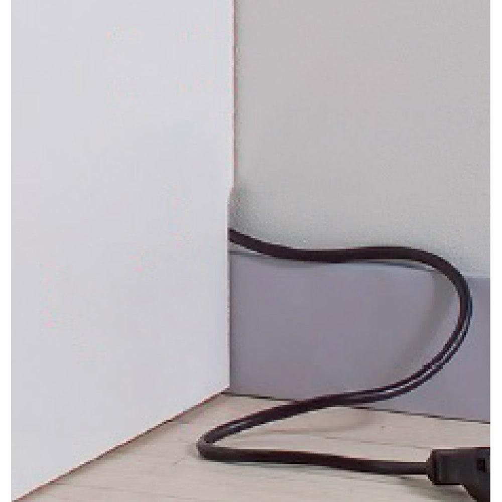 インテリアに合わせて8色&13タイプから選べるシューズボックス ミラー扉(右開き) 幅30高さ180.5cm コードを逃がす幅木カットでピッタリ設置。