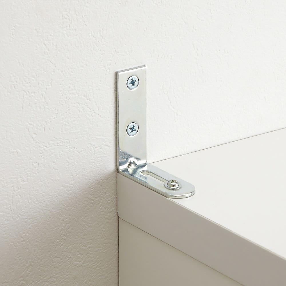 前面ミラー&板戸シューズボックス ミドルタイプ・幅75.5 高さ93cm 商品には転倒防止金具(L字型金具)付き。