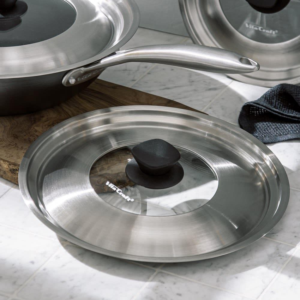 vitacraft/ビタクラフト スーパー鉄 フライパン用フタ径24・26cm兼用 中が見えて使いやすい兼用フタ。