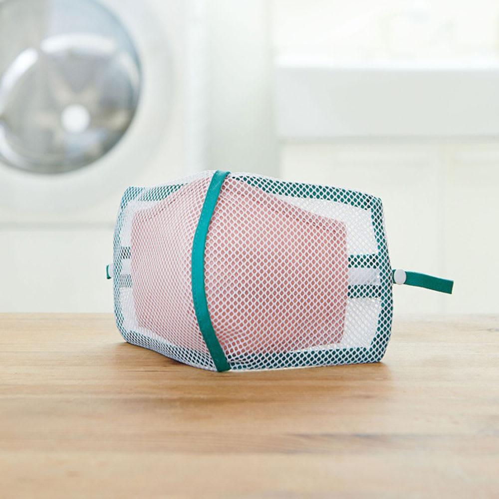 そのまま干せるマスク専用折式洗濯ネット(4枚組) 物干し台・洗濯ハンガー
