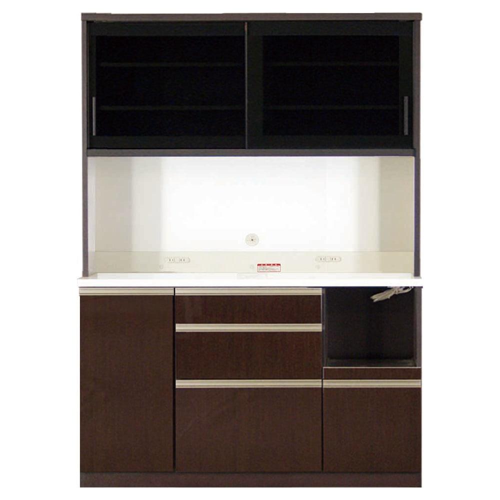 家具 収納 キッチン収納 食器棚 レンジ台 レンジラック キッチンラック 高機能 モダンシックキッチン キッチンボード 幅140奥行45高さ193cm 508515