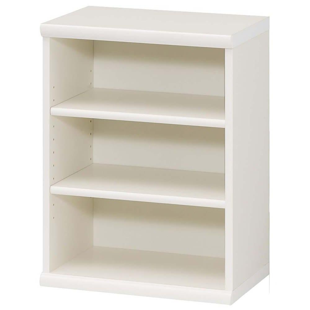 色とサイズが選べるオープン本棚 幅44.5cm高さ60cm (イ)ホワイト