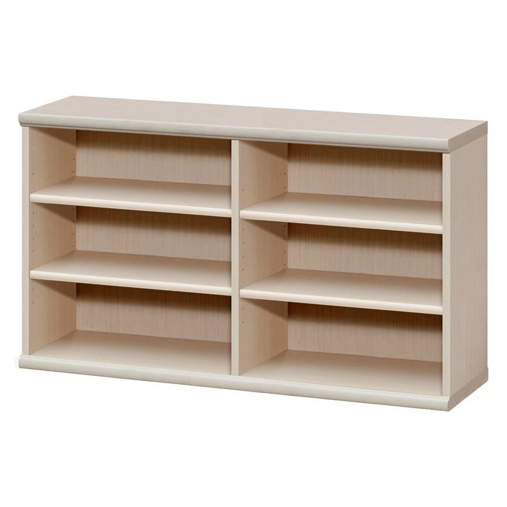 色とサイズが選べるオープン本棚 幅116.5cm高さ60cm (ア)ライトナチュラル