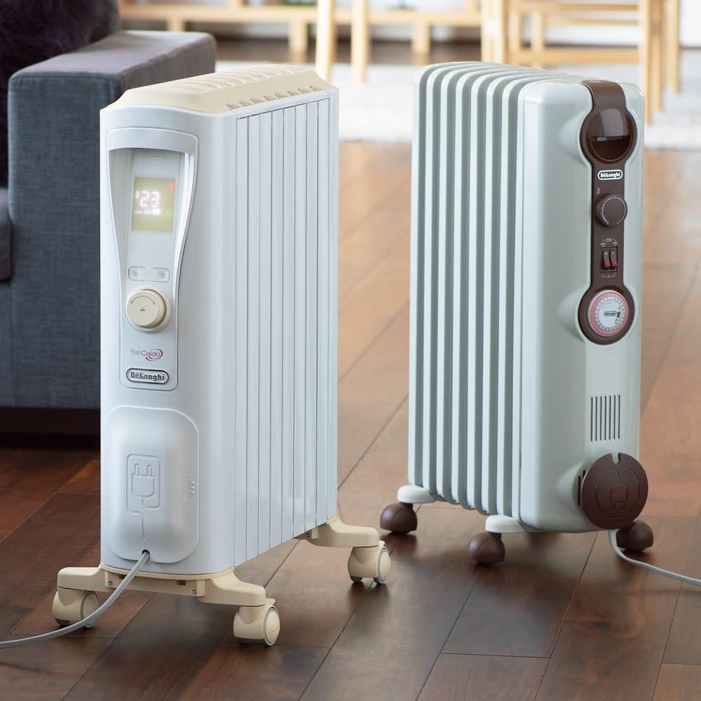 【販路限定モデル】DeLonghi/デロンギ ベルカルド オイルヒーター オイルヒーターの魅力たっぷり。ハイスペックモデル。(※左がベルカルドヒーター)