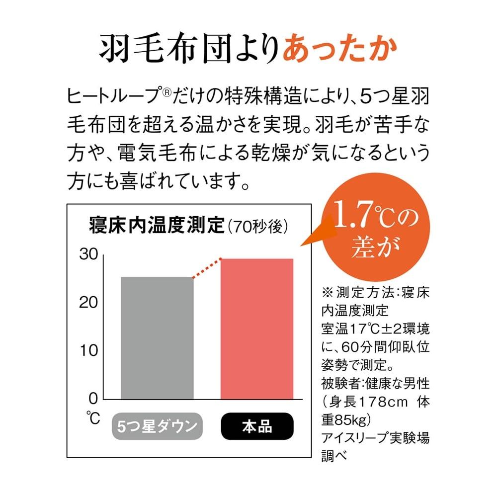 シングル(【ディノス限定販売】ヒートループ(R)DX ぬくぬく増量掛け布団) 羽毛布団よりもあったか!