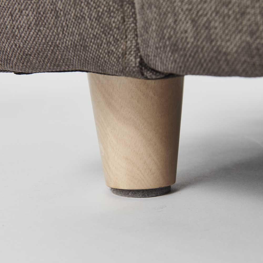 ペットのソファ 小 木製の脚部 取り外してもお使いいただけます。