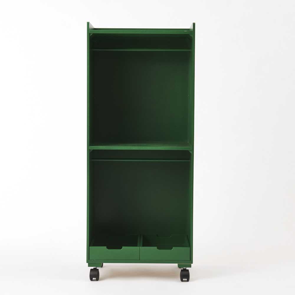 ペットの洋服収納ハンガーラック ラック2段タイプ (イ)グリーン