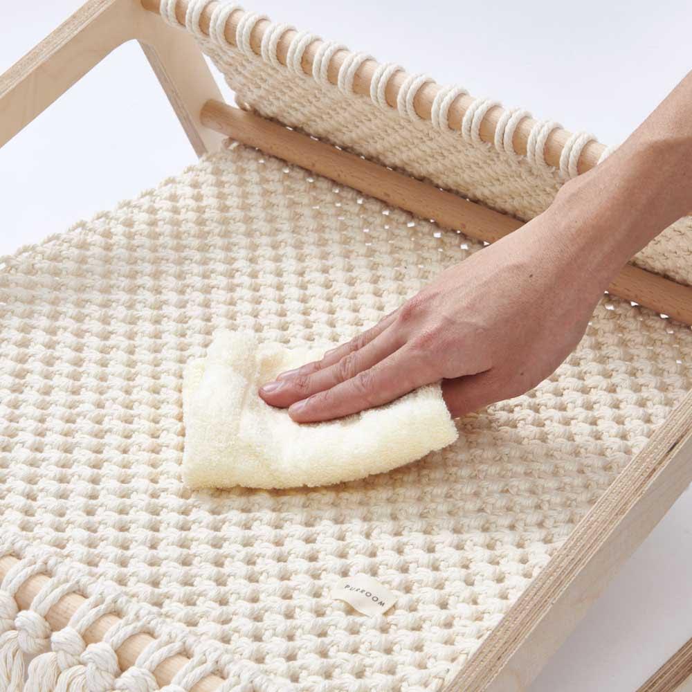 ペット用ハンモックベッド ネットタイプ 汚れた場合はよく絞った布で拭いてください。(※洗濯できません。あらかじめご了承ください)