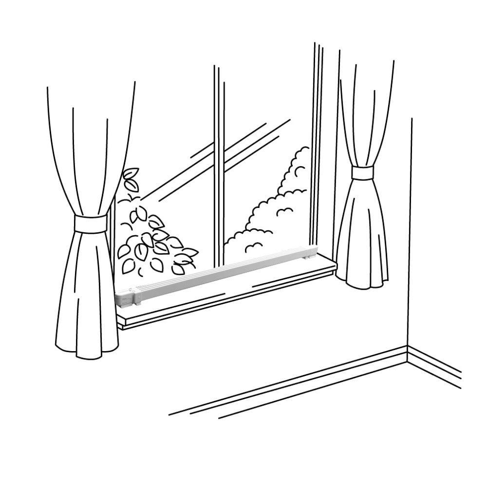 結露と冷気を抑制!「窓際ヒーター」 幅90~120cm伸縮式