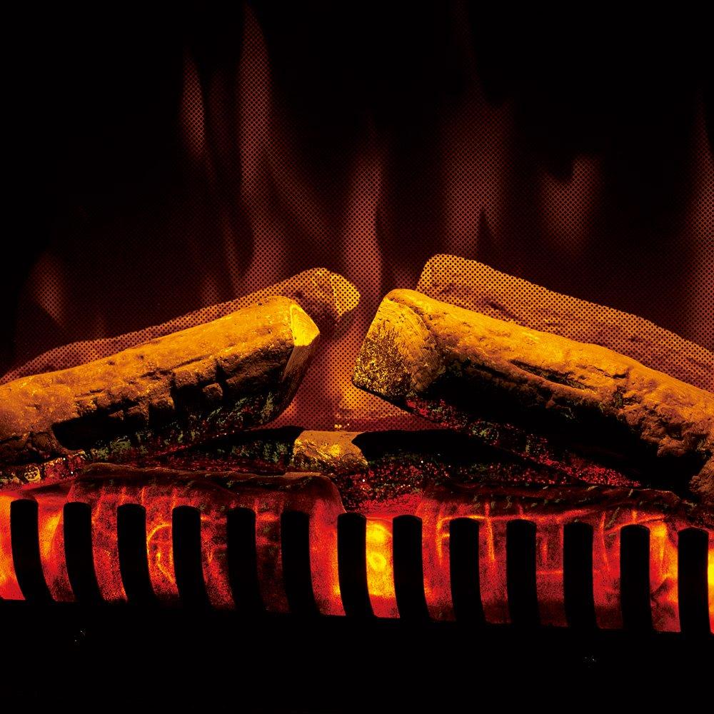 ディンプレックス 暖炉型ファンヒーター ジャズ2 4個のLED照明と反射板で力強い光の反射と屈折を生み、リアルな炎を再現。類似品とは炎のクオリティが違います! ※ヒーター使用時は必ずイルミネーションが点灯します。