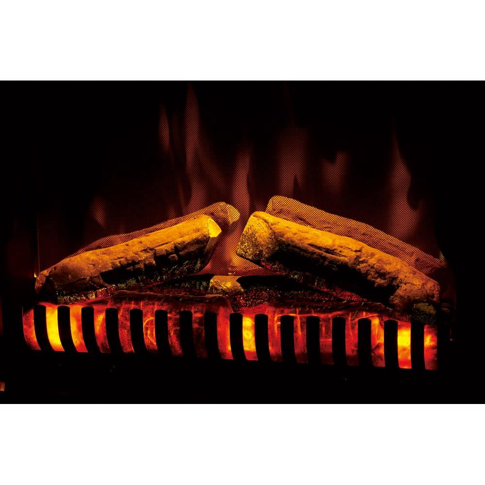 ディンプレックス 暖炉型ファンヒーター ベリーニ 4個のLED照明と反射板で力強い光の反射と屈折を生み、リアルな炎を再現。類似品とは炎のクオリティが違います!