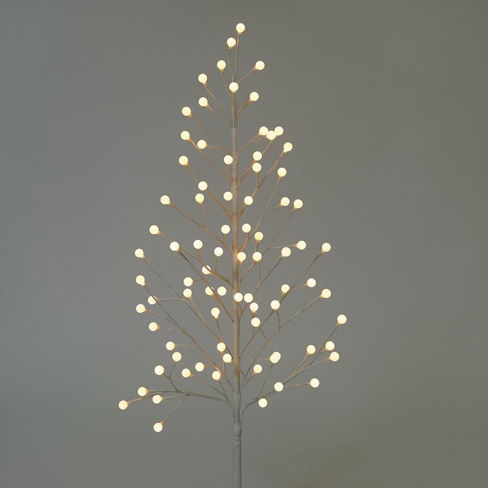 ボタニックブランツリー 高さ180cm 9種類の点灯パターンに加え、常時点灯は電球色~昼白色の調光機能付き。