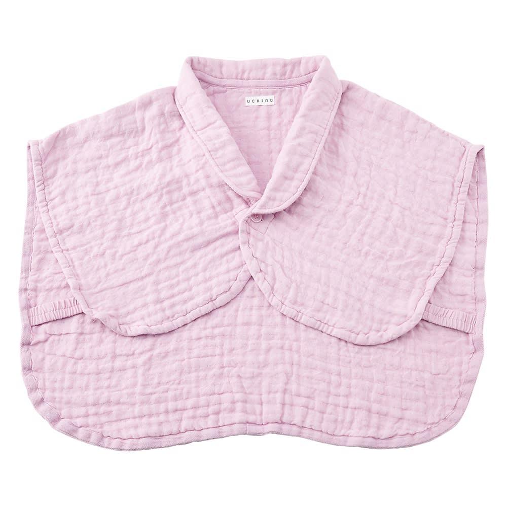 マシュマロワッフルガーゼおやすみ肩あて 男女兼用 (オ)ピンク