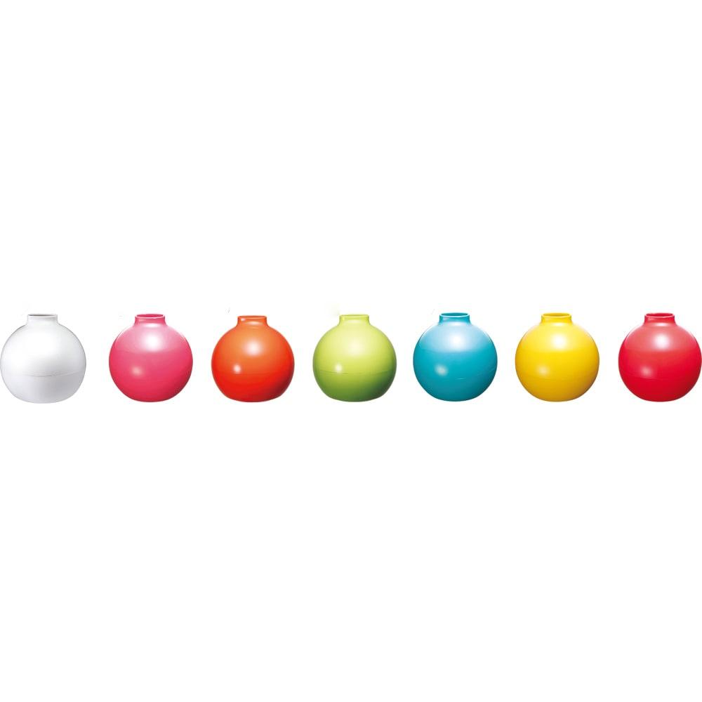 ペーパーPot(ポット) ティッシュケース 1個 全31色 グロス仕上げタイプ 左より(ア)ホワイト、(ツ)ピンク、(フ)オレンジ、(ウ)ライトグリーン、(エ)ターコイズブルー、(テ)イエロー、(ヘ)レッド