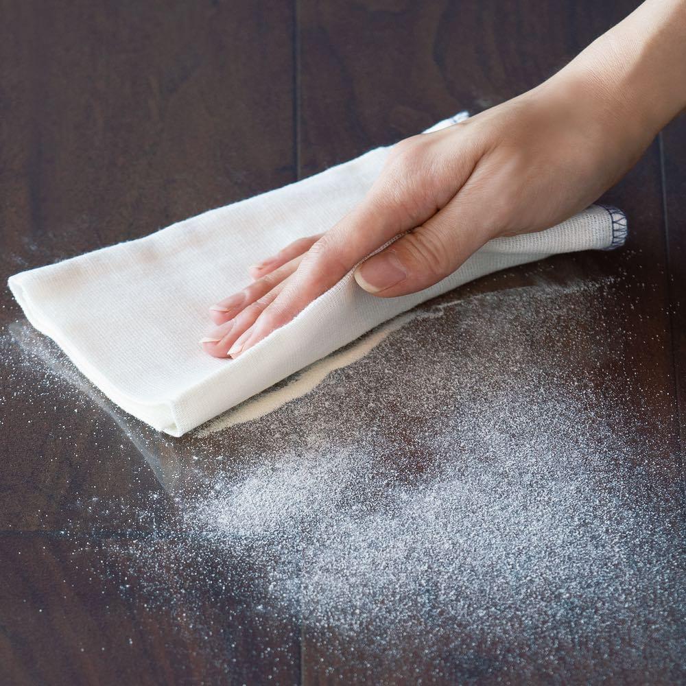透明キッチンマット 粉末も