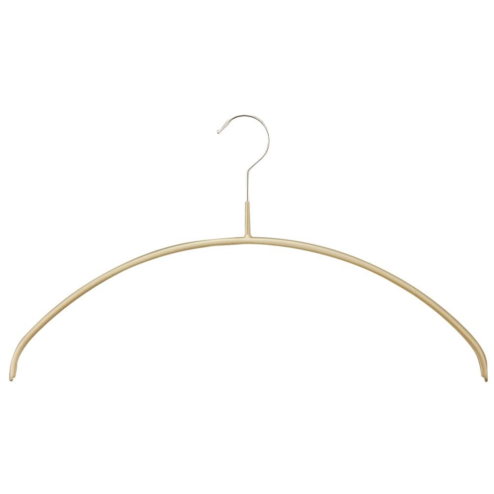 MAWA(マワ)ハンガー 人体ハンガー (ア)ゴールド 人体に近い、丸みを帯びた肩ラインが特徴。通常のハンガーでは肩の出てしまうニットの型崩れも防止。