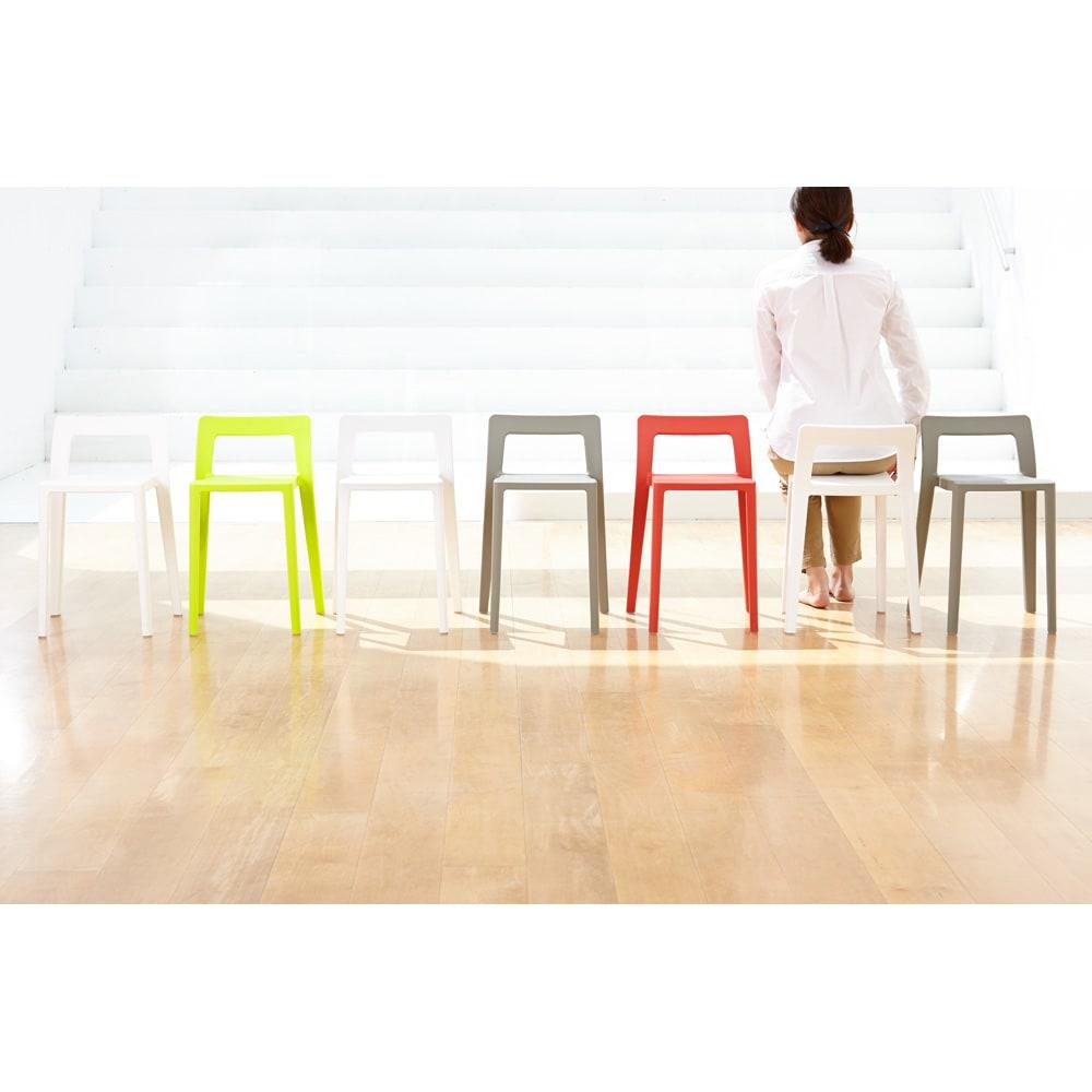 ENOTS ミニマルスタッキングチェア [I'mD/アイムディー] お部屋を元気にするカラーバリエーションも魅力のひとつ