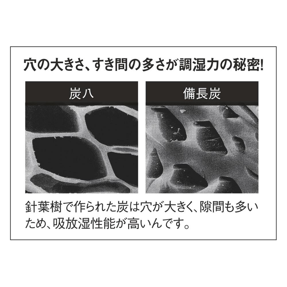 調湿木炭「出雲屋 炭八」 12リットル×4個 特典付き(スマート小袋2個) 炭八に使われている炭と一般的な備長炭の違い。