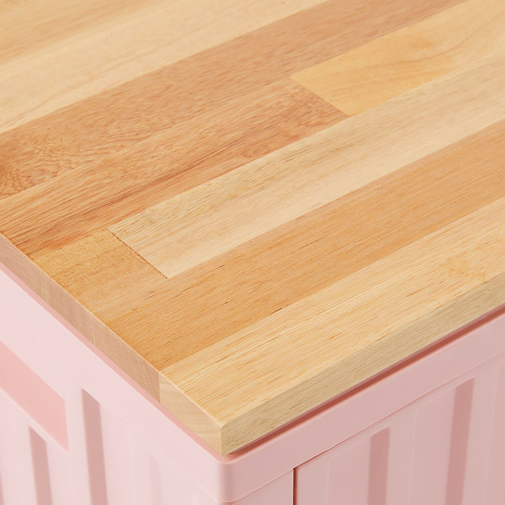 コンテナストレージボックス 単品 専用木製天板を使えばインテリア性もアップ。