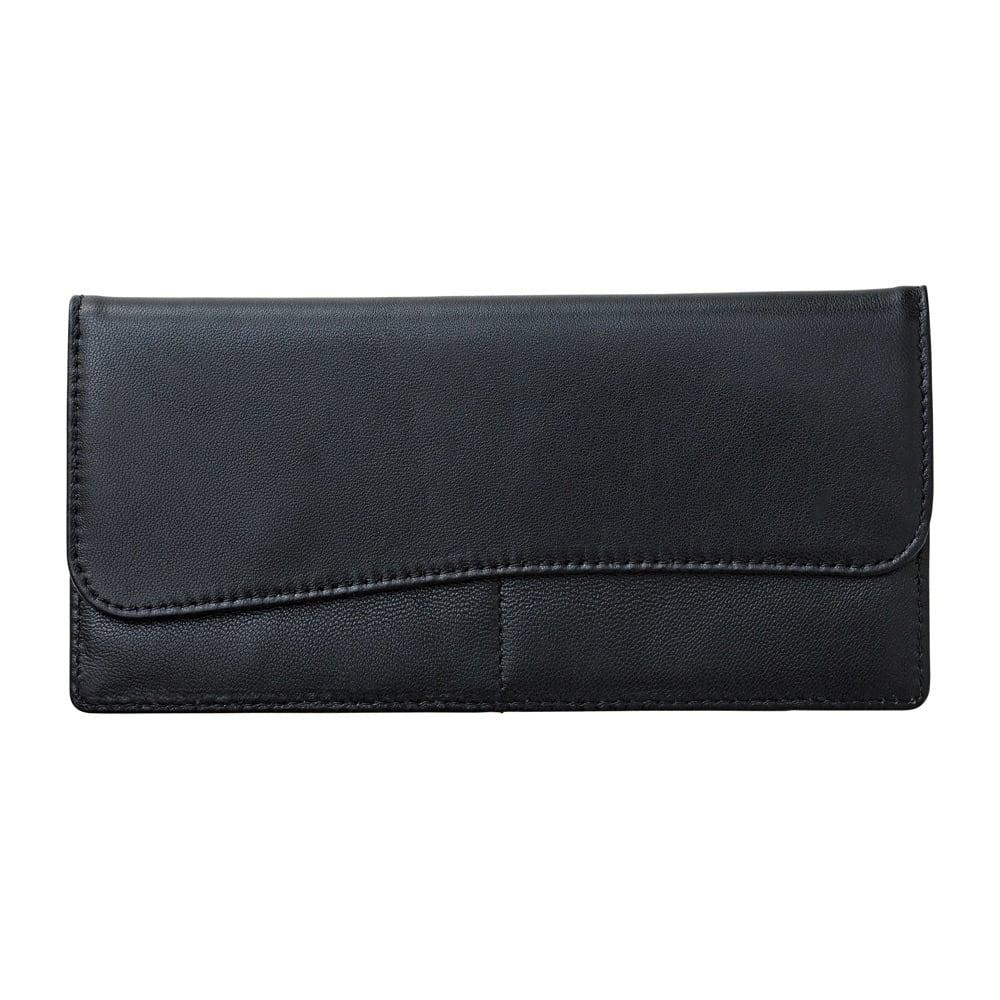 ラムレザースリムカード財布 1個 (ウ)ブラック
