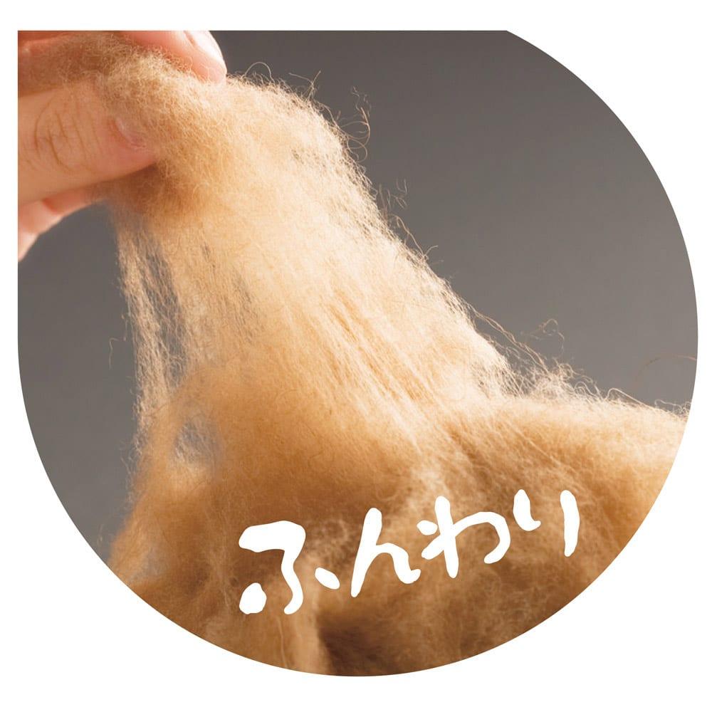 陽だまりのような温もり ふんわりキャメル敷きパッド 希少なキャメルの中から厳選した、ふんわりやわらかな毛を使用。