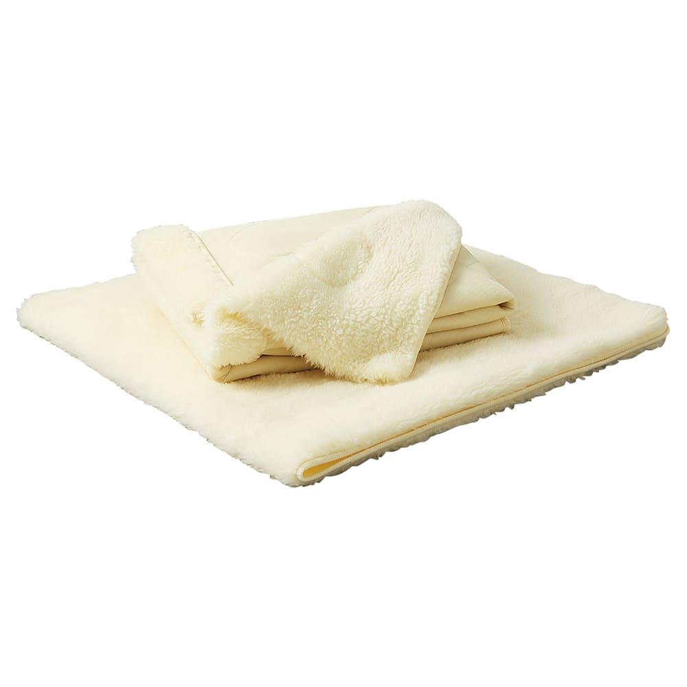 癒しの羊毛【メリノン】 ふかふか毛布シリーズ お得な掛け敷きセット 掛け&敷きを合わせて使えばさらに全身ポカポカ。ディノスだけのお得なセットです。