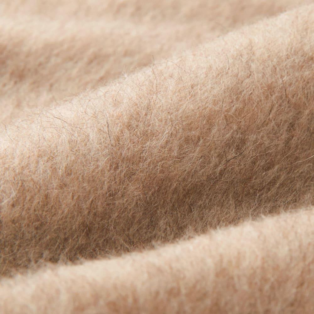 洗える 無染色ブラウンカシミヤ毛布(毛羽部) お得な掛け敷きセット なめらかな肌触りのブラウンカシミヤを使用