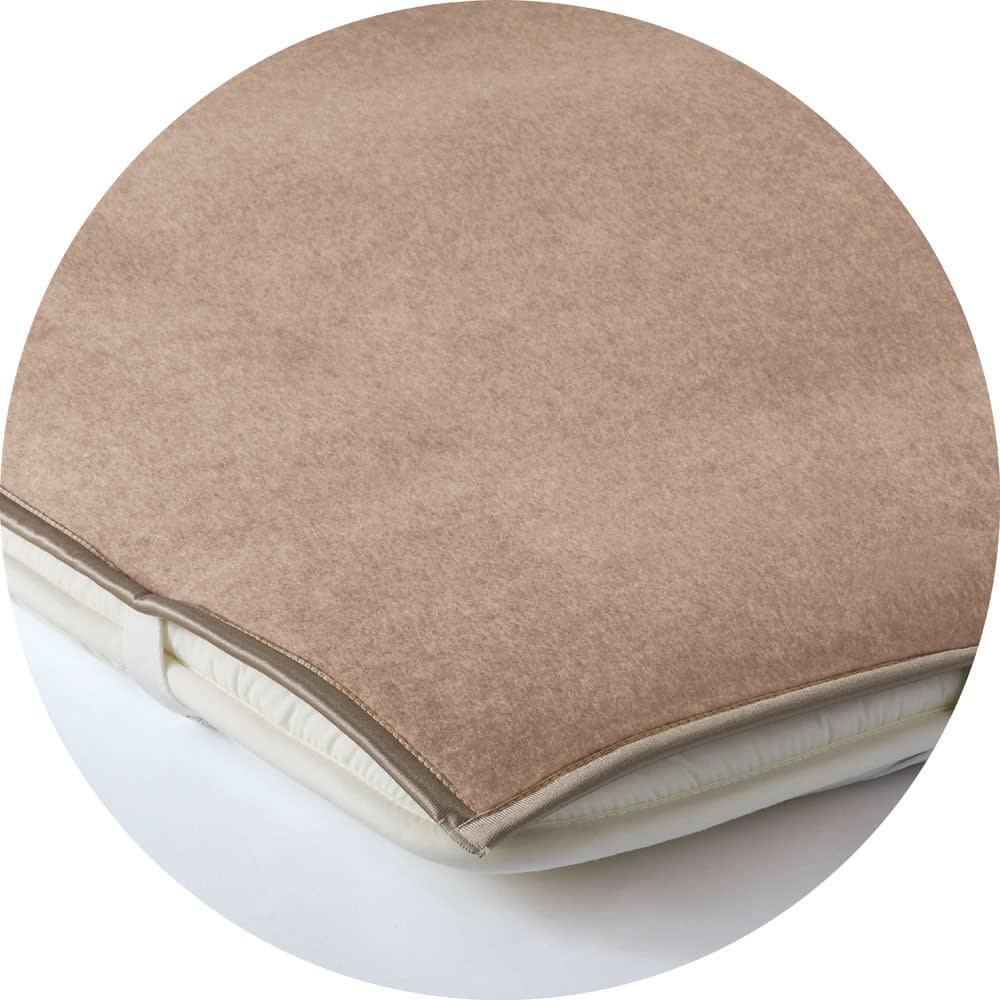 洗える無染色カシミヤ毛布(毛羽部) ホワイトカシミヤ敷き毛布 敷布団にも ※画像はブラウンカシミヤ敷き毛布です。お届けするのはホワイトカシミヤ敷き毛布です
