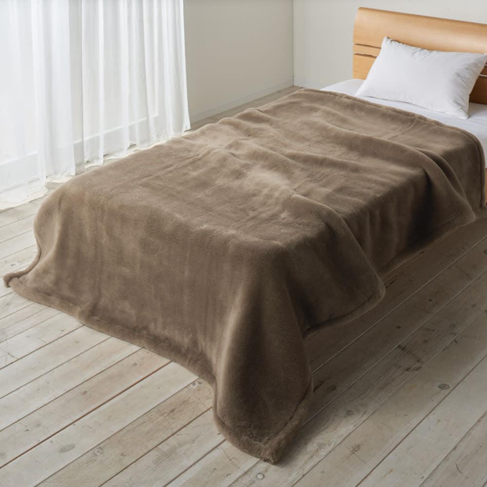 ベッド 寝具 布団 毛布 ブランケット 敷き毛布 シングル(ジロンウールニューマイヤー毛布) 526823