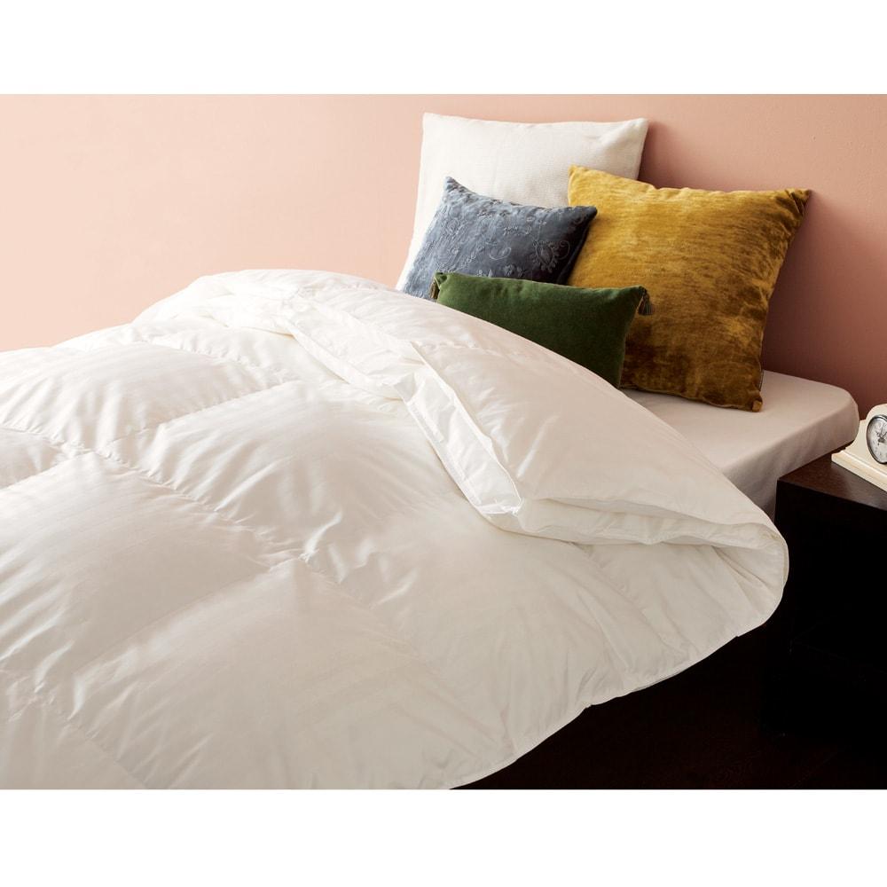 4つ星ラベル☆☆☆☆ホテルライクな高級感 洗える消臭羽毛シリーズ 2枚合わせ羽毛布団 ※お届けは2枚合わせ羽毛布団です。