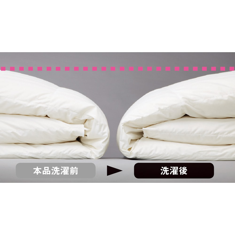 4つ星ラベル☆☆☆☆ホテルライクな高級感 洗える消臭羽毛シリーズ 2枚合わせ羽毛布団 速乾性のある生地が羽毛の生乾きを防ぎ、羽毛がダマになりにくくふっくら乾きます。