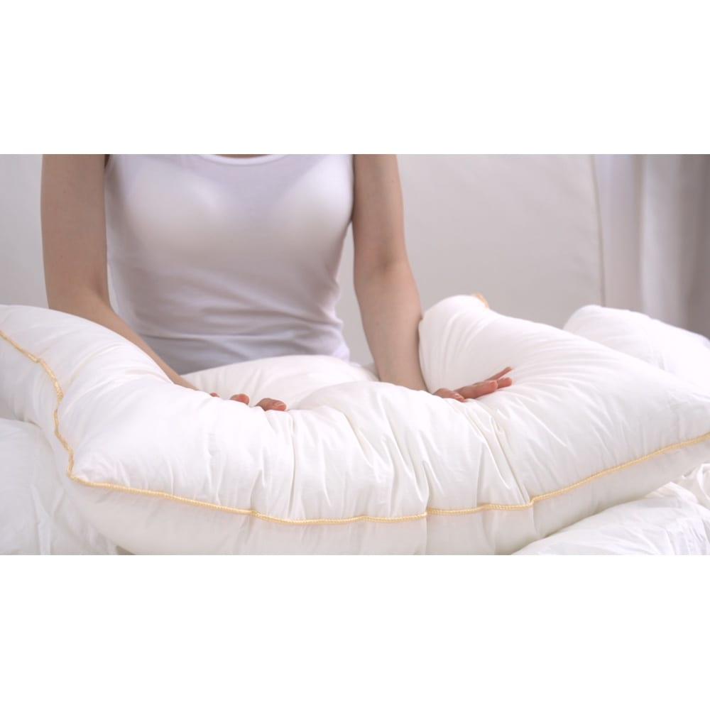 フィベールピロープレミアム 枕のみ 大判(1個) 適度な弾力と反発力があるのでヘタリに強い。
