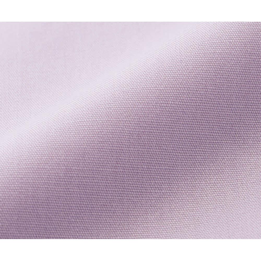 西川 ふわっとやわらか吸湿・発熱 掛けカバー 表地アップ(ウ)ラベンダー カバー表面はシワになりにくいスーパーソフト加工。