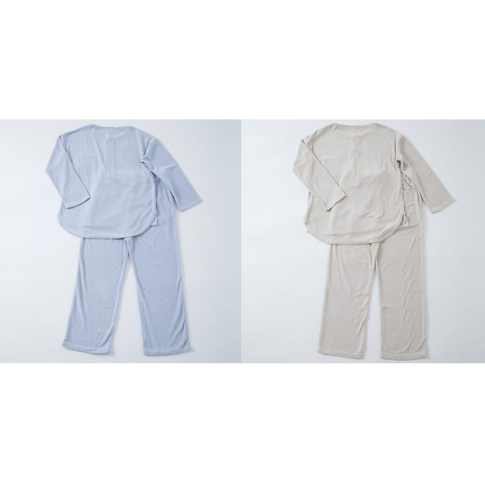 発熱するコットン「デオモイス」小物シリーズ フランネルニットのパジャマ